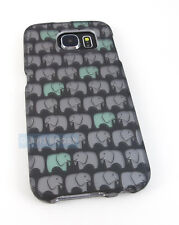 FOR SAMSUNG GALAXY S 6 S6 CUTE ELEPHANT PATTERN HARD CASE COVER