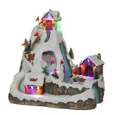 """Luville Winter Scene """"SKI AND SLED Mountain"""", Animated Christmas Village Winter ..."""