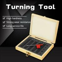 "5Pcs 3/8"" Carbide Lathe Tool  Set Turning Tools Kit with Wood Box"