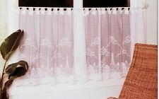 """Heritage Lace Beach House Lighthouse Window Curtain Tier 60"""" W x 30""""L - White"""