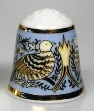 Fingerhut Porzellan England Taube und Rose Jugendstil William Morris