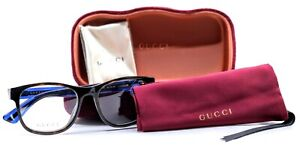 Gucci GG0004O 003 Havana/Blue/Red Mens Full Rim Eyeglasses 53-19-145 Italy