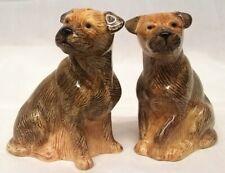 More details for quail ceramic border terrier dog salt & pepper pots condiment or cruet set