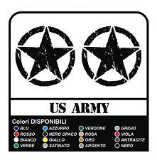 3 ADESIVI cm 10 STELLA + US ARMY x SUZUKI, JEEP, FUORISTRADA RENEGADE STICKERS