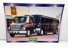 FREIGHTLINER FL80 1991 CARTE FICHE CAMION CAPOT - TRUCK CARD