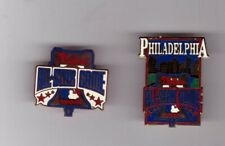 LOT OF 2 1996 MLB BASEBALL ALL STAR GAME PINS PHILADELPHIA PHILLIES 1 IS PRESS