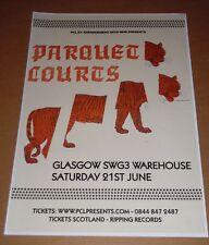 Parquet Courts - live music show june 2014 promotional tour concert gig poster