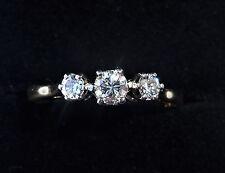 18ct Gold 0.40ct Diamond Three Stone Ring, Size O