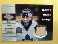 2 Card 2000 Game Used Curtis Joseph Stick Toronto & Ryan Miller Jersey Buffalo