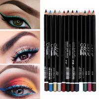 12 Color Cosmetic Waterproof Eye Shadow Lip Liner Eyeliner Pencil Pen Makeup Set