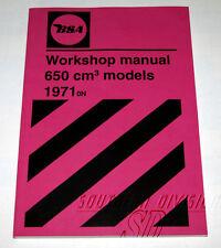 00-4189 BSA Werkstatt handbuch  Workshop manual A65 650 ccm OIF ab 1971