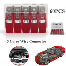 60PCS 450V Car Engine Wire Connector 5 Way Wire Clamp Terminal Quick Connection