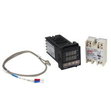 Digital PID Temperatura Control Controlador REX-C100+K Sensor+MAX 40A SSR 0-400º