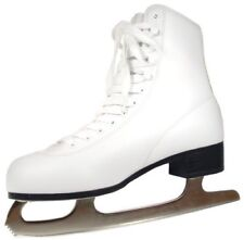 American Athletic Shoe Girl's American Leather Lined Figure Skates White 9