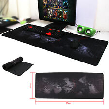 80x30cm Large World Map Game Mouse Pad Mat Laptop Non-Slip non-toxic UK