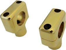"La Choppers Pair Motorcycle Solid Brass 1"" Handlebar Risers Harley Davidson"