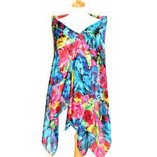 "Women's 100% Satin Silk Scarf / Multi-color / Floral / 70"" X 42"""