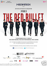 "BTS ""2014 LIVE TRILOGY IN SINGAPORE EP. 11. THE RED BULLET"" CONCERT TOUR POSTER"