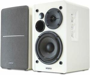 Edifier R1280T Active Bookshelf Speaker System with Remote Control (White)