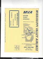 Mississippi Valley  Airlines   May 15 1979  timetable