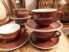 Cappuccino Coffee Set With Cups & Saucers