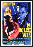 Cartel El Dulce Vida Federico Fellini Anita Ekberg Marcello Mastroianni En