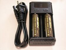 2 BASEN 21700 4000mAh 21700 High Drain 3.7v 30A Battery w/  Nitecore i2 charger