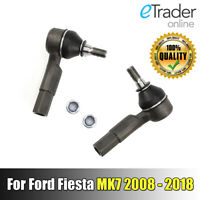 For FORD FIESTA MK7 Track Rod Ends PAIR 2008-2018 FRONT Outer Tie Rod End x2 NEW