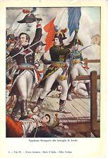 Stampa antica NAPOLEONE BONAPARTE Battaglia di Arcole 1932 Old antique print
