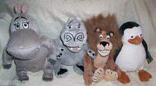 MADAGASCAR PLUSH LOT LION PENGUIN HIPPO Dreamworks RUSS Gloria Escape 2 Africa
