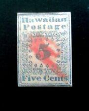 Hawaii 1851, ,5c Blue Cv,$55000. Replica