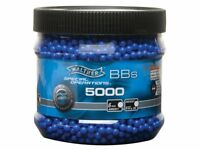 Walther Licensed 5000 ct. Airsoft BB's .12g Blue New Free Ship!