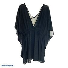 New listing Women's Time and Tru Pullover Swim Beach Cover Up NEW Black 3XL