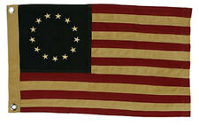 New Country Primitive Aged Tea Stained Betsy Ross Tea Stained American Flag