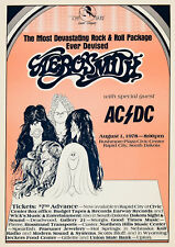 Lot of 4 1976-89 Aerosmith Kiss 12 x 16 Reproduction Concert Poster & Print Ads