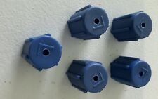 5 X AC Charging Port Service Cap R134a 13mm LOT of 05 Low Side Caps A/C Blue