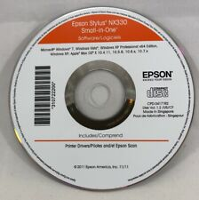 Epson Stylus NX330 Small In One Software CD Disc with Printer Drivers 2011