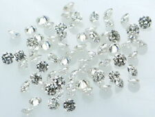 10 Pcs 4 mm 5 Carat Round Cut D/VVS1 Diamond Simulated Lab Created Loose Stone