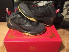 New Air Jordan 2011 Q Flight Year Oft he Rabbit Black Metallic Gold Red Size 9.5