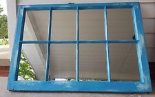 VINTAGE SASH ANTIQUE WOOD WINDOW PICTURE FRAME PINTEREST 8 PANE BLUE MIRRORS