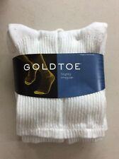 Gold Toe Men's Crew Socks White 6-Pair Sock Size 10-13 Cotton Blend New