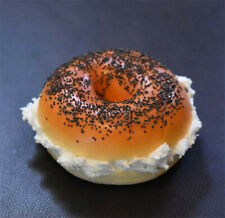 Poppy Seed Bagel With Cream Cheese | Fake Food, Replica, Artificial, Faux