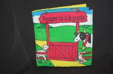 BeBe Boom Spanish Prosper Va A La Granja Baby Learning Book Plush Hecho N Mexico