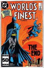 WORLD'S FINEST COMICS 323 Batman Superman 1986 LAST Issue