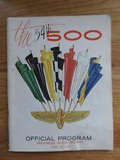 1970 INDY 500 Indianapolis Motor Speedway Racing 54th Program AL UNSER Winner