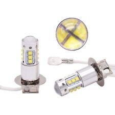 H3 16 LED Super Bright 80W Fog Lights DRL Bulbs X2