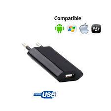 CARGADOR CORRIENTE USB RED DE PARED UNIVERSAL PARA NOKIA SMARTPHONE NEGRO 5V 1A