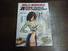 AN AUTHOR IN SEARCH OF SIX CHARACTERS - MANARA ( ANGLAIS )