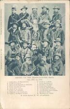 SOUTH AFRICA Boer war warriors portrait 1900s litho PC