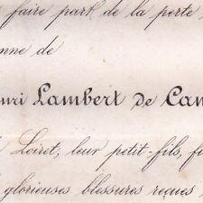Charles Scipion Henri Lambert De Cambray Guerre 1870